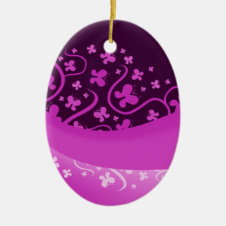 Abstract Purple Butterflies Ornaments
