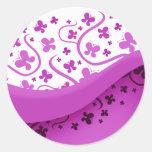 Abstract Purple Butterflies Stickers