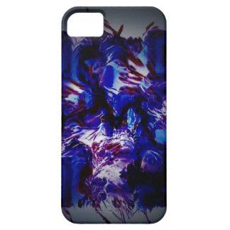 abstract purple crazy bar barcode scanner weird am iPhone SE/5/5s case