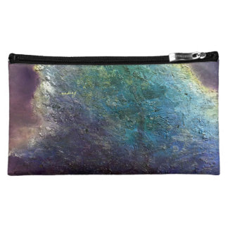 Abstract Purple Crush Bagette Cosmetic Bag