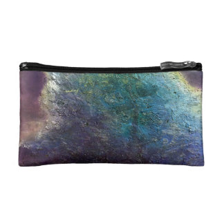 Abstract Purple Crush Bagette Cosmetics Bags