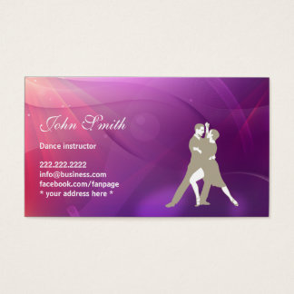 Abstract Purple Dance Instructor Business Card