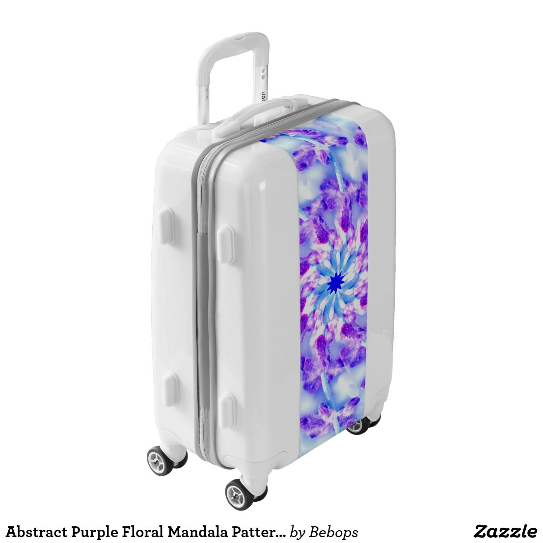 Abstract Purple Floral Mandala Pattern Luggage