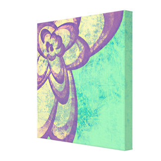Abstract Purple Flower Design Gallery Wrap Canvas