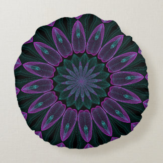 abstract purple flower spin pillow