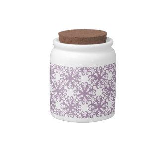 Abstract Purple Flower Sugar / Candy Jar