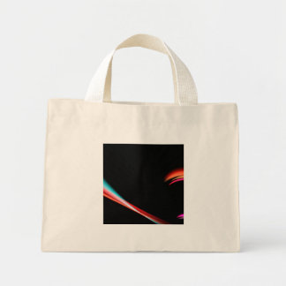 Abstract Purple Fractal Swoosh Mini Tote Bag