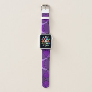 Abstract Purple Geometric Shapes Apple Watch Band