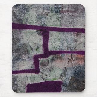 Abstract purple graffiti mouse pad