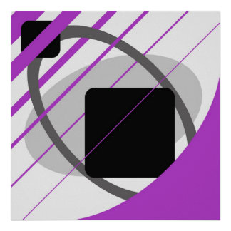 Abstract Purple Gray Off-White Black AP0002 Poster