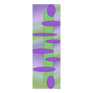 abstract purple green skinny business card