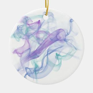 Abstract Purple Haze Ceramic Ornament