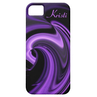 Abstract Purple Heart iPhone 5 case *Personalize*