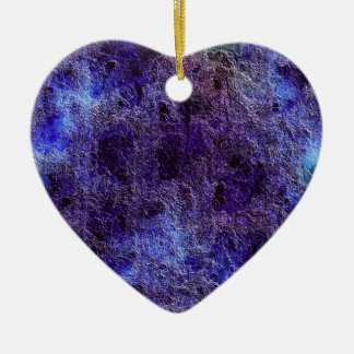 Abstract Purple Heart Ornament
