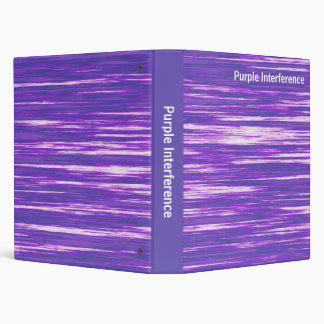 Abstract - Purple Interference 3 Ring Binder