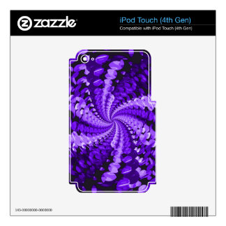Abstract Purple iPod Touch 4G Skin