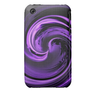 Abstract Purple Island Wave iPhone 3 case