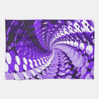 Abstract Purple Kitchen Towel