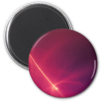 Abstract Purple Light Wave 2 Inch Round Magnet