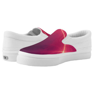 Abstract Purple Light Wave Slip-On Sneakers