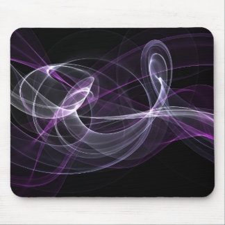 Abstract Purple Lights Mouse Pad