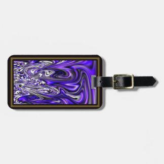 Abstract Purple Magma Swirls Luggage Tag