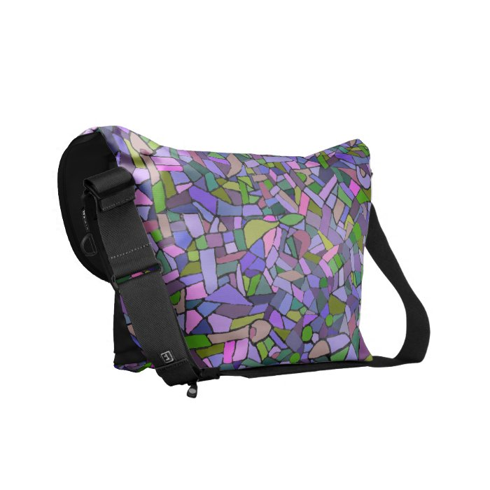 Abstract Purple Mosaic Pattern Bag