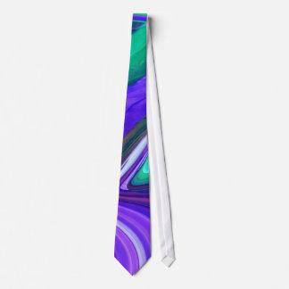 Abstract Purple N Teal Swirls Tie