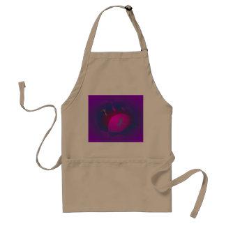 Abstract Purple Nebula Art Adult Apron