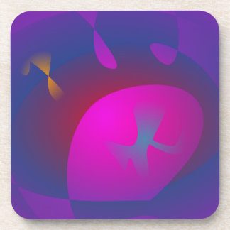 Abstract Purple Nebula Art Drink Coaster