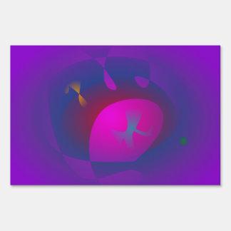 Abstract Purple Nebula Art Lawn Sign