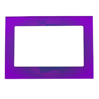 Abstract Purple Nebula Art Magnetic Frames