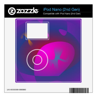 Abstract Purple Nebula Art Decals For iPod Nano