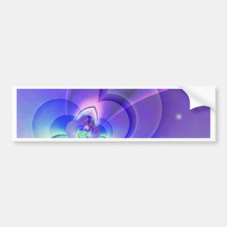 abstract purple no. 2 created by Tutti Bumper Sticker