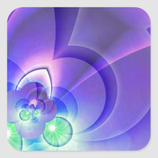 abstract purple no. 2 created by Tutti Square Sticker