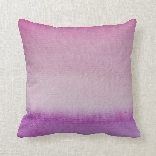 Wash Or Throw Away Pillows : Abstract Purple Ombre Watercolor Wash Throw Pillow Zazzle