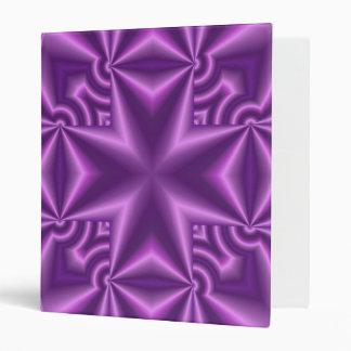 Abstract Purple Pattern Cross Binder