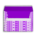Abstract Purple pattern + dots flowers hearts Envelope