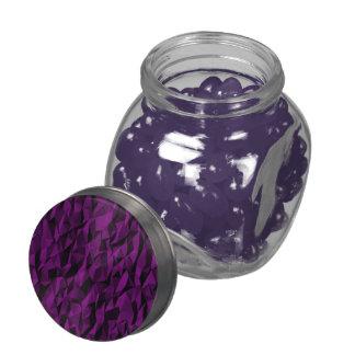 Abstract purple pattern glass jars