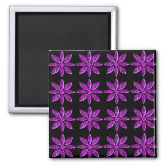 Abstract Purple Petals Magnet