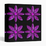 Abstract Purple Petals Vinyl Binders