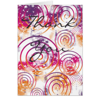 Abstract Purple/Pink/Orange Thank You Cards