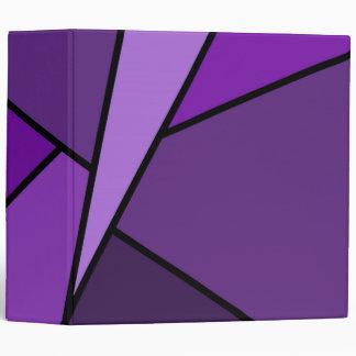 Abstract Purple Polygons Vinyl Binder