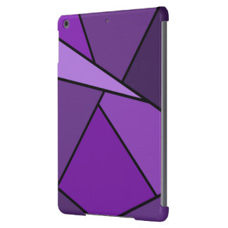 Abstract Purple Polygons Case For iPad Air