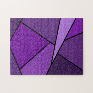 Abstract Purple Polygons Jigsaw Puzzle