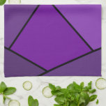 Abstract Purple Polygons Kitchen Towel