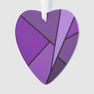 Abstract Purple Polygons Ornament