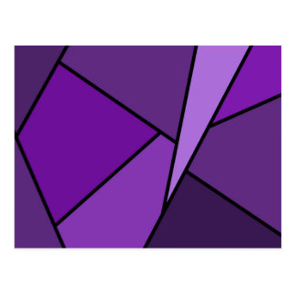 Abstract Purple Polygons Postcard