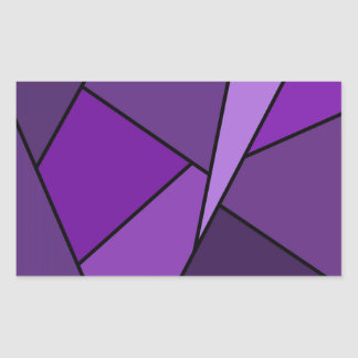 Abstract Purple Polygons Rectangular Sticker