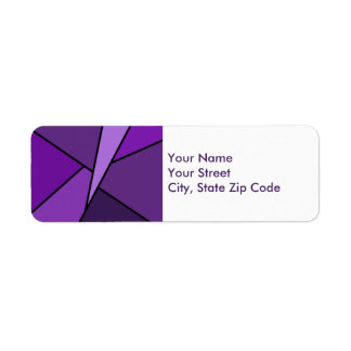 Abstract Purple Polygons return address label